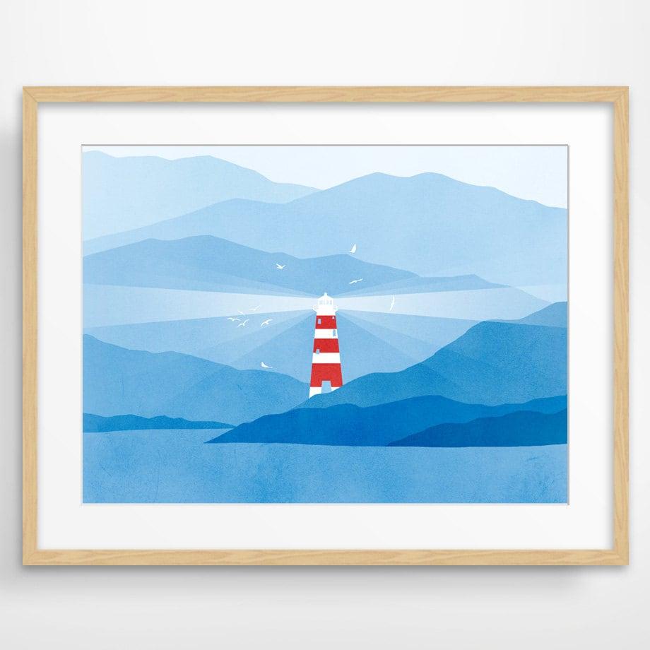 Large Nautical Wall Decor : Lighthouse large wall art nautical decor modern by evesand