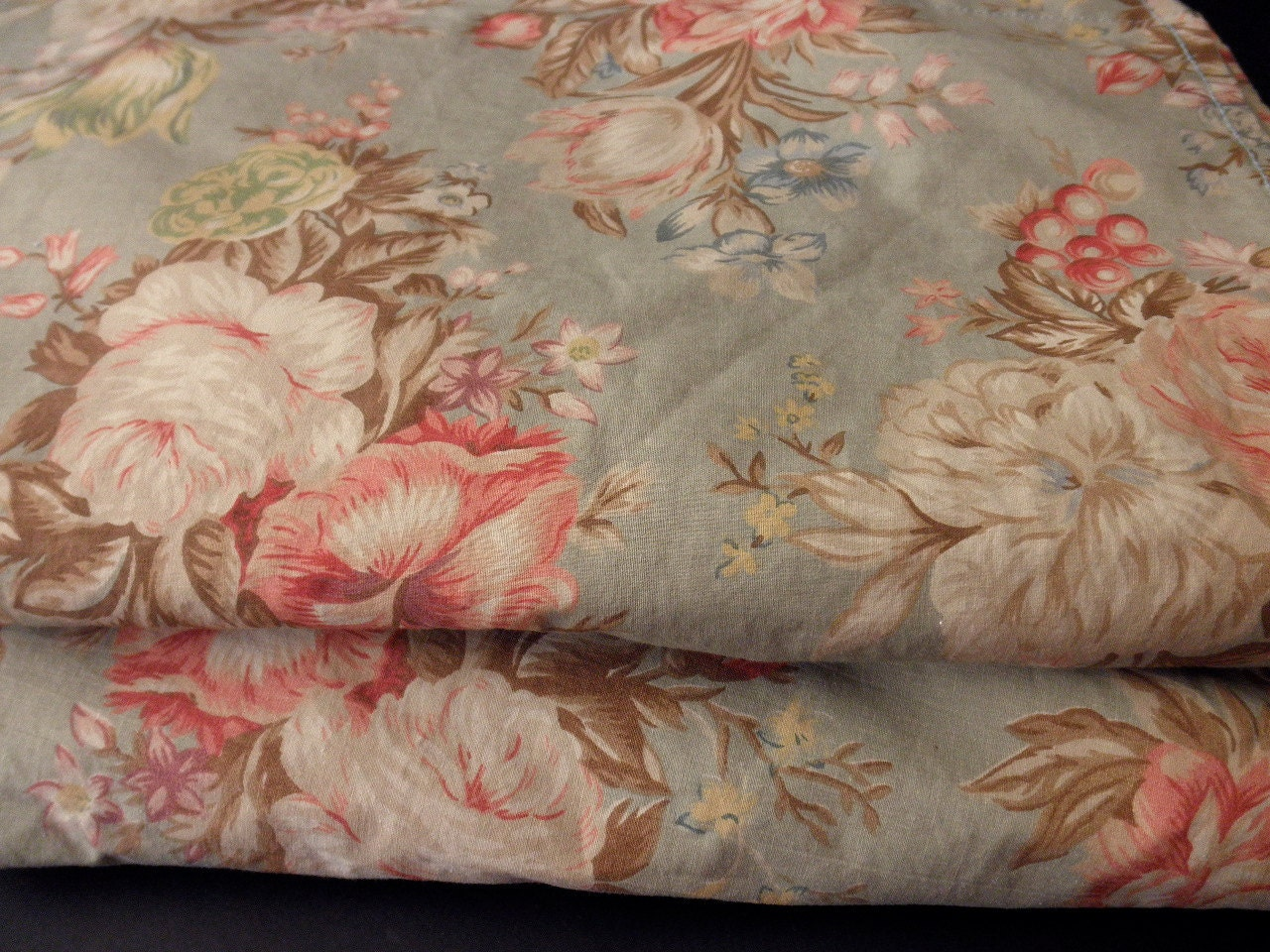 Two King Ralph Lauren Sheets With Floral Design By