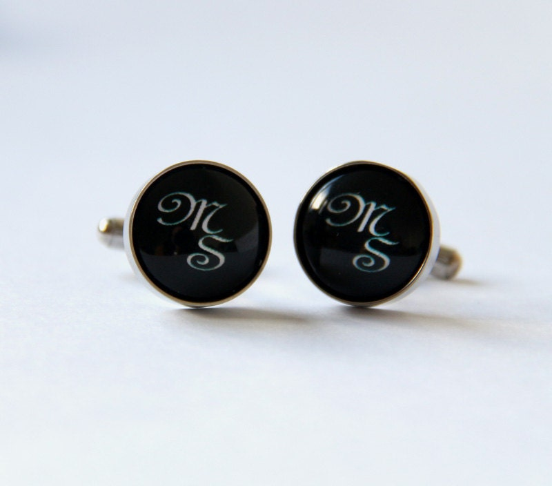 Mens monogram cufflinks personalized gift for him by for Personalized christmas gifts for men