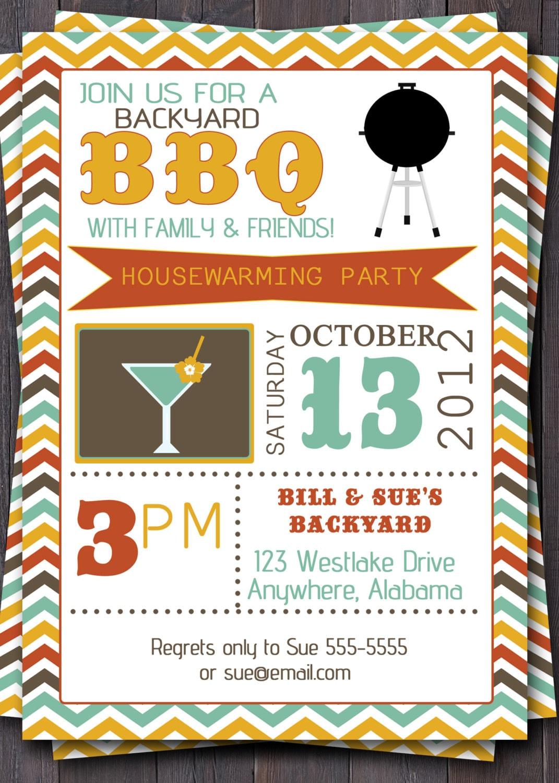 bbq party invitation  invite  birthday baby by sullivandigidesigns