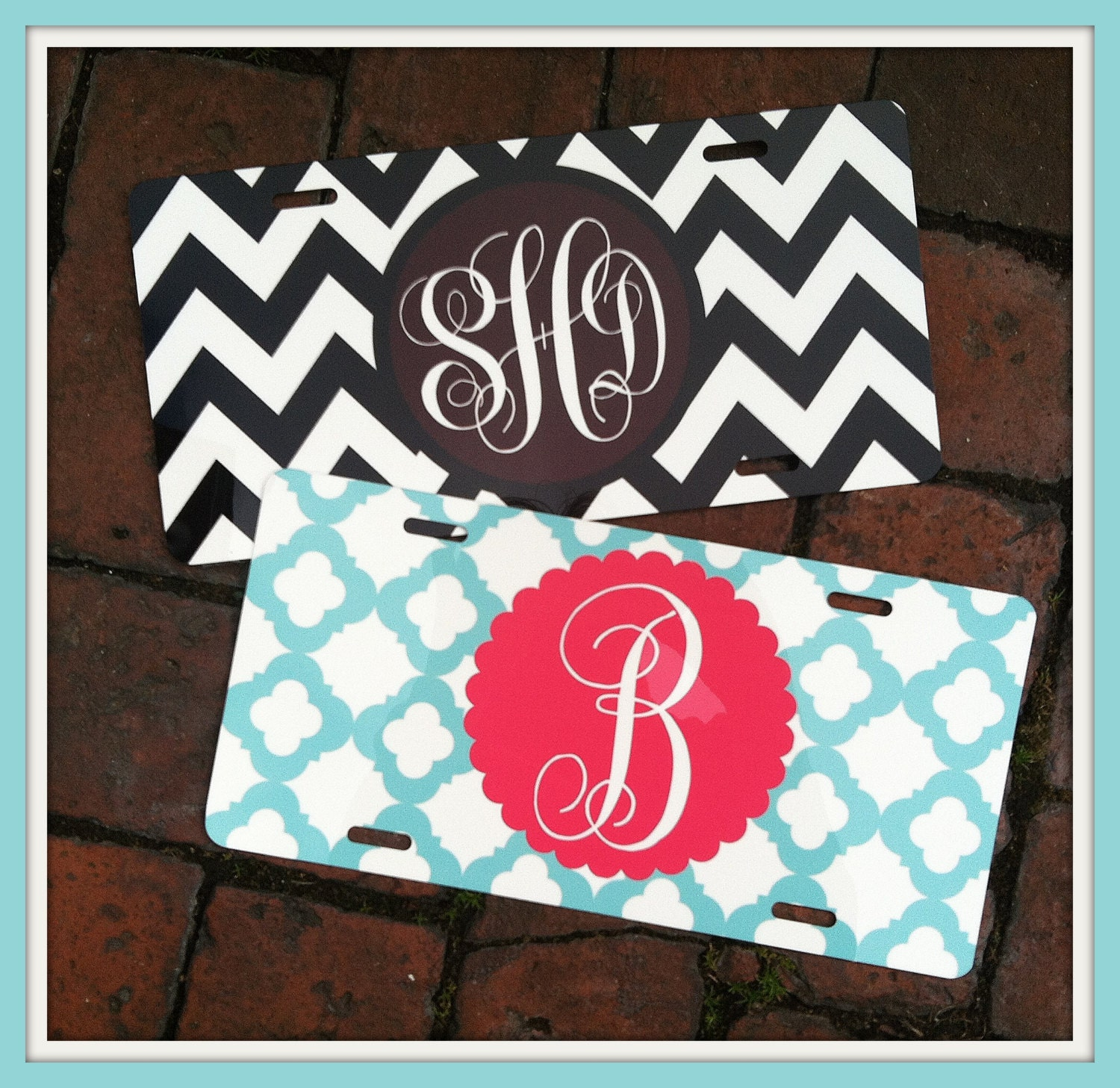 Customized License Plates >> Personalized Monogrammed License Plate Car Tag by ChicMonogram