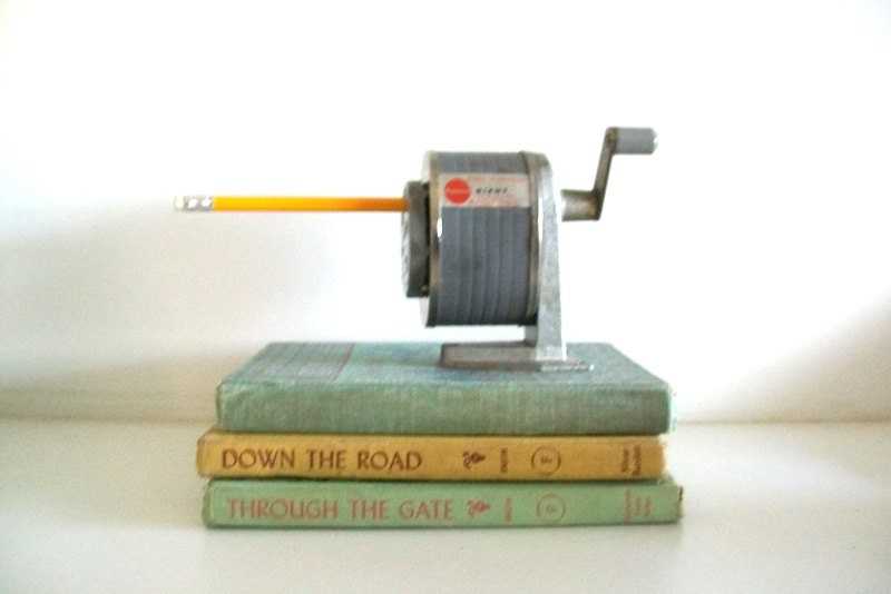 Get Your Number 2 Pencil Ready - Vintage Wall Mounted Pencil Sharpener - 4EnvisioningVintage