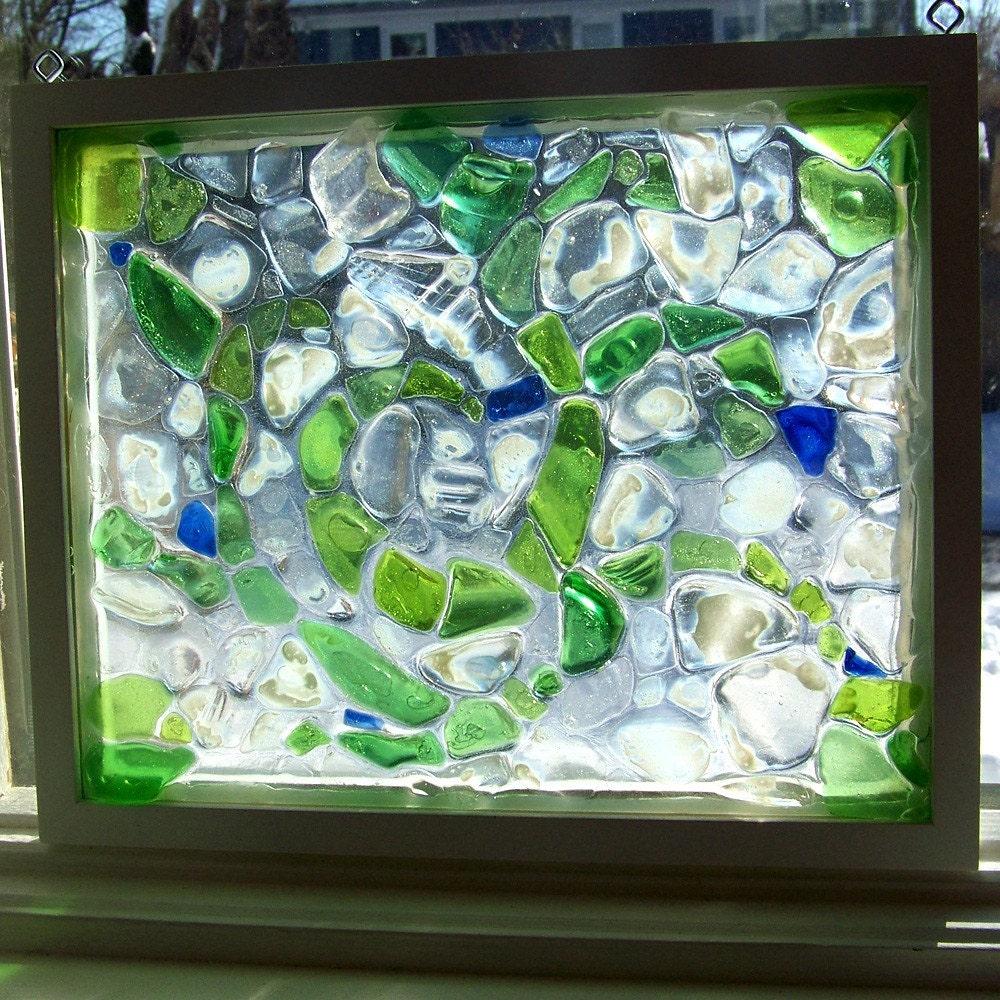 Beach Sea Glass Window Mosaic By Scarboroughseashells On Etsy