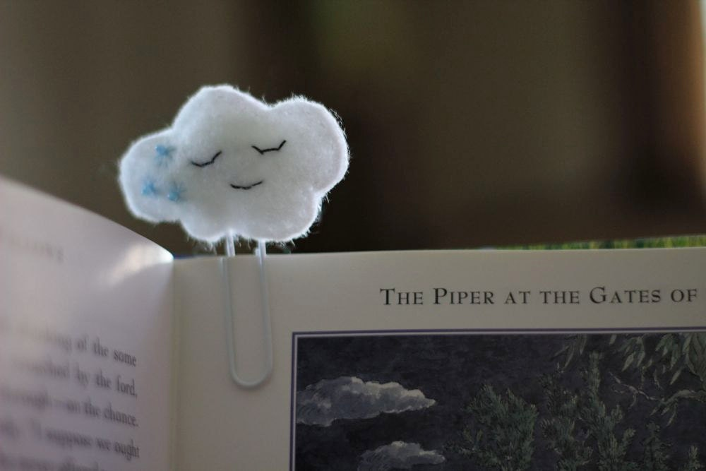 Cloud Felt Paperclip Bookmark