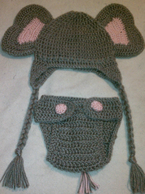 Free Crochet Pattern Infant Elephant Hat : Free Crochet Baby Elephant Hat Pattern ...
