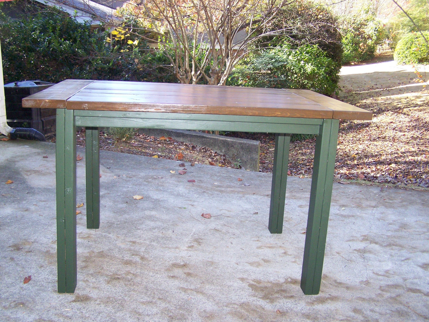 Farmhouse kitchen island bar height table by asimplepeaceplace