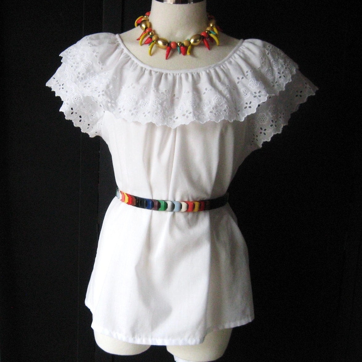 White Mexican Blouse 73