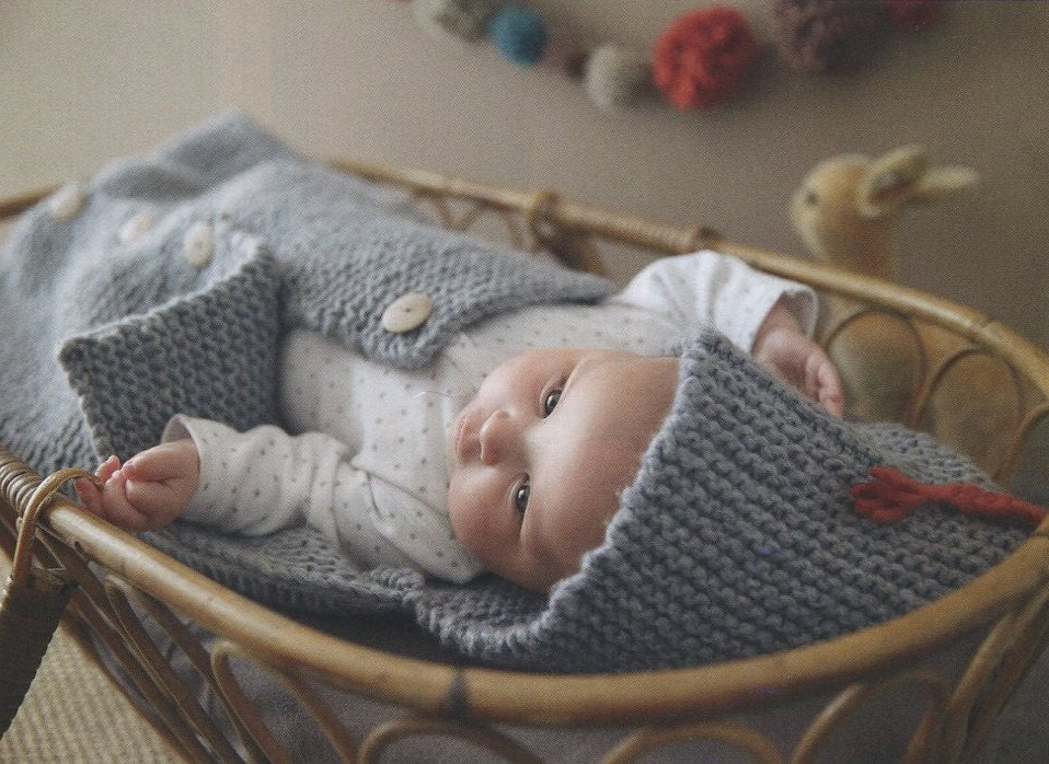 Knitting Pattern Sleeping Bag : ENGLISH Super Easy Baby Sleeping Bag Knitting by AliceInCraftyland