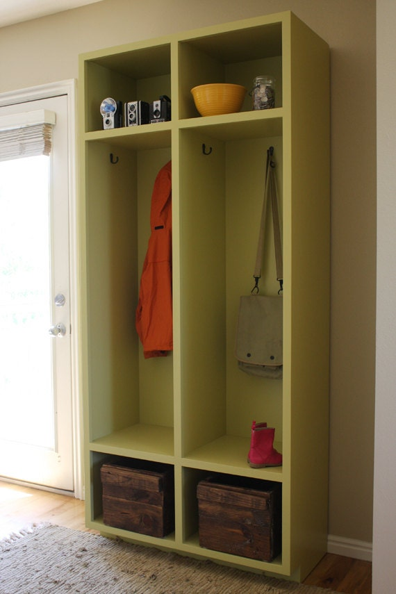 Mudroom Storage Lockers Woodworking Plans by irontimber on Etsy