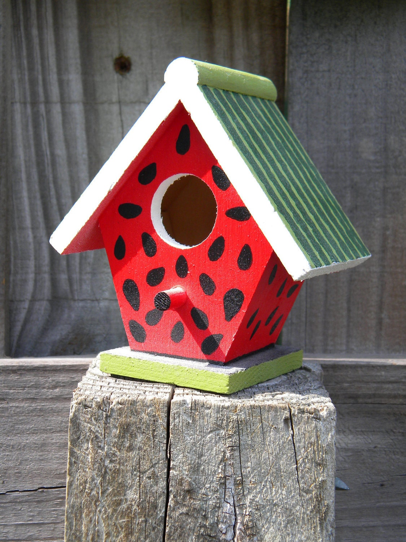 Small Decorative Handpainted Bird House By Charvetcreations