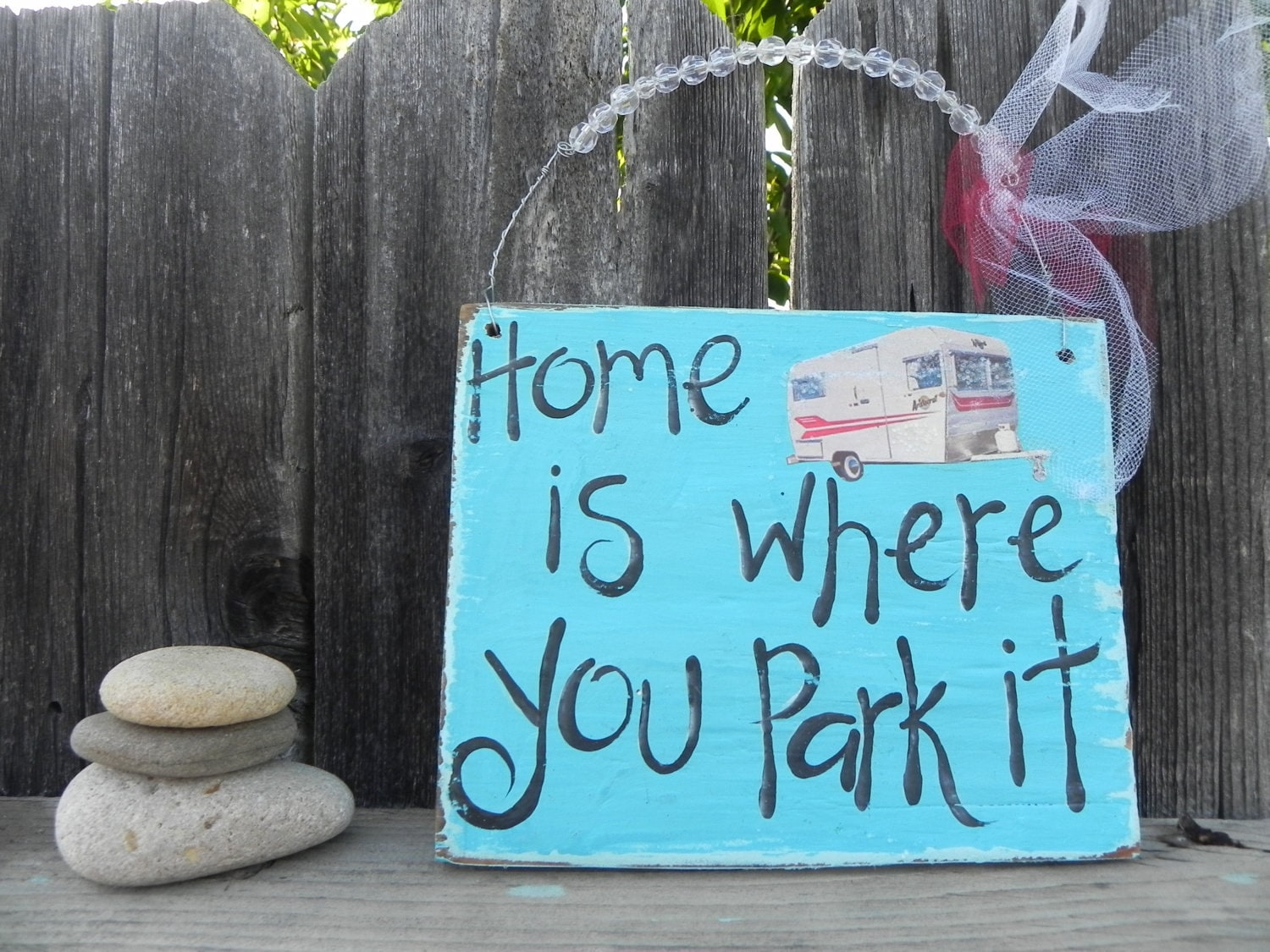 Home Is Where You Park It Vintage Inspired By Signsandsalvage