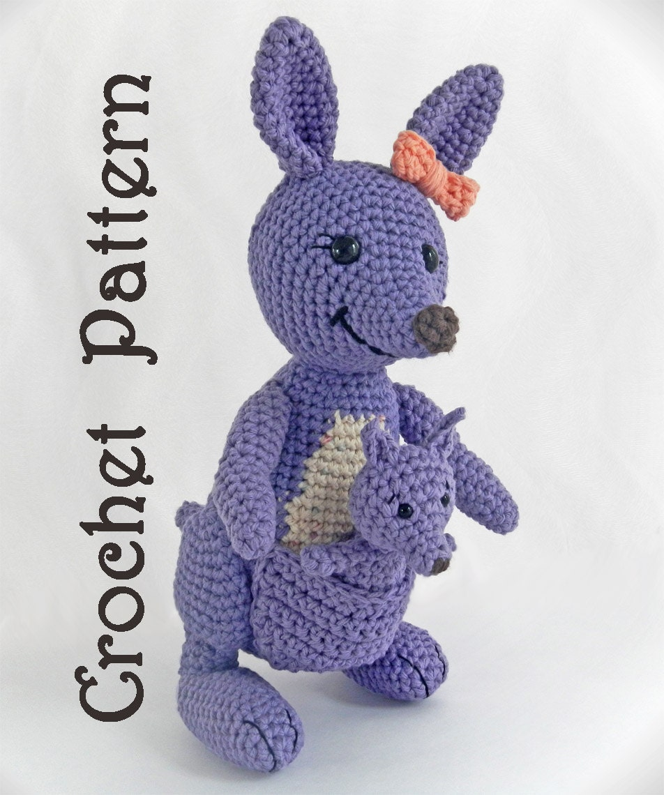 Amigurumi Pattern for Crochet Toy Kangaroo by ...