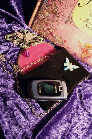 Fairy Faerie Cell Phone or Business Card Little Black Bag