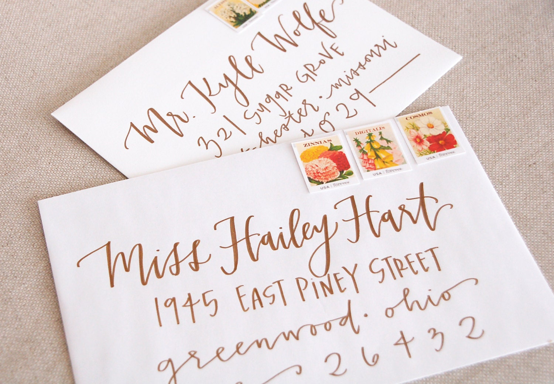 Wedding Gift Envelope Address : Wedding Calligraphy / Envelope AddressingCopper Modern Calligraphy ...