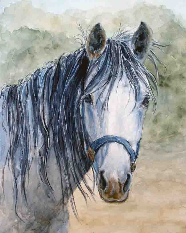 Your Best Friend is sometimes your horse - print of an original watercolor painting - Best Friend - 8 x 10 - tapestry316