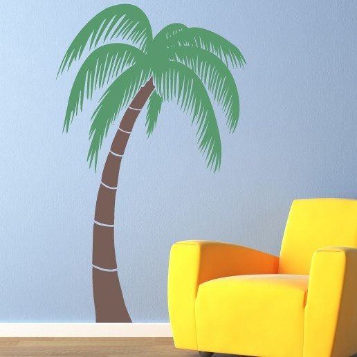 palm tree large vinyl wall art decal by stephenedwardgraphic