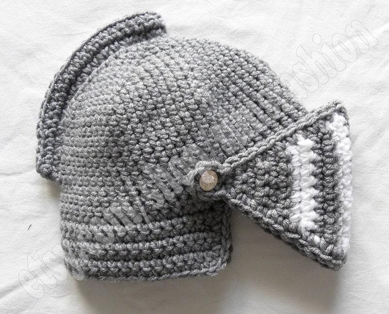 knight helmet crochet beanie hat original warm by sunsfashion