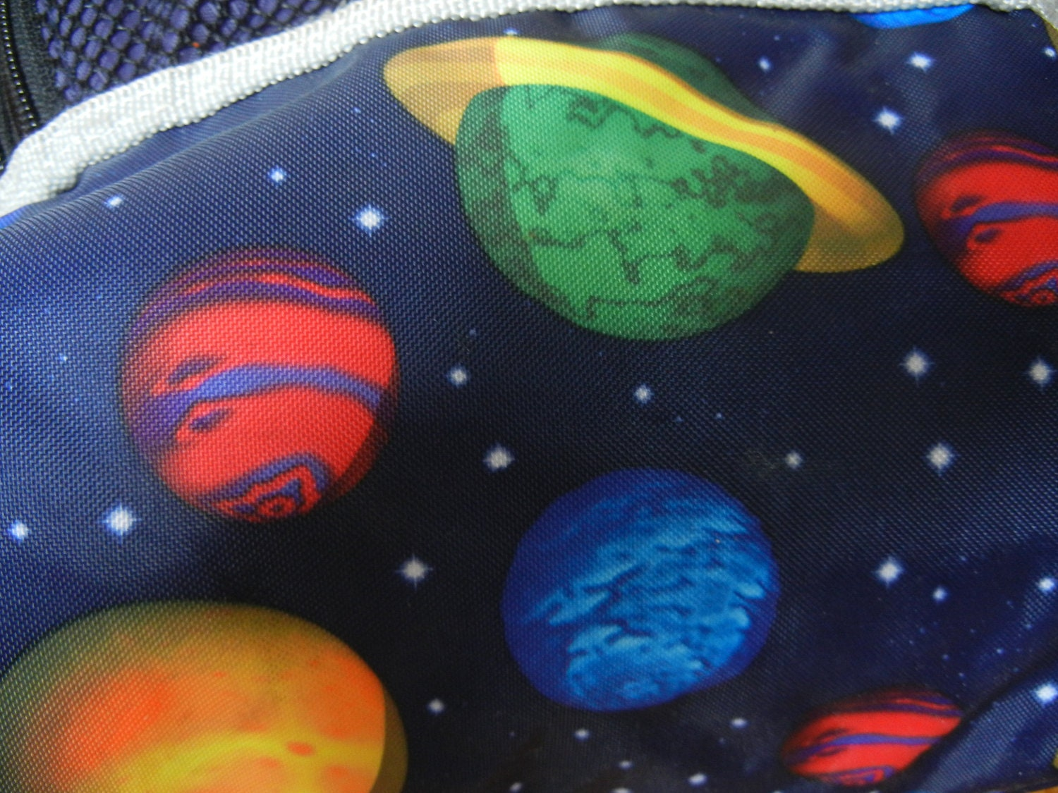 Vintage outer space backpack planets gap by for Retro outer space
