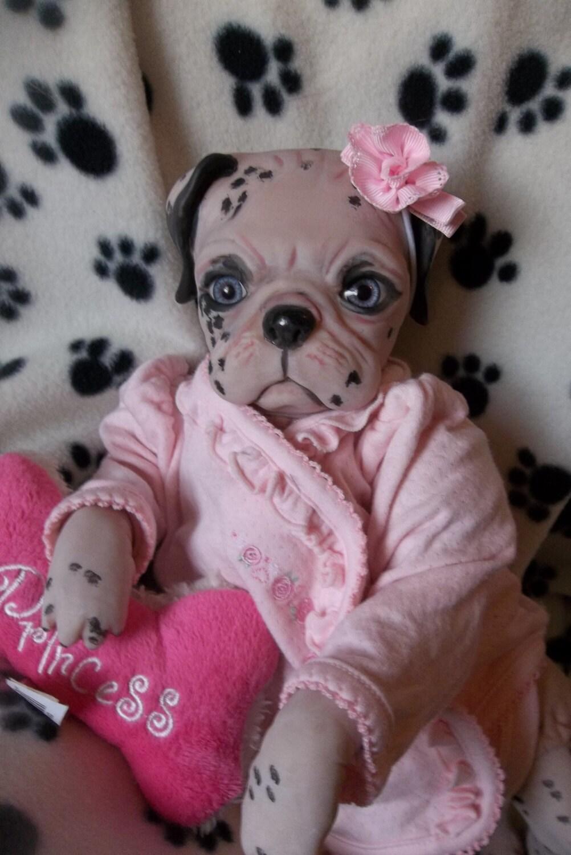 Custom Reborn Puppy Art Dog Doll Princess Baby By