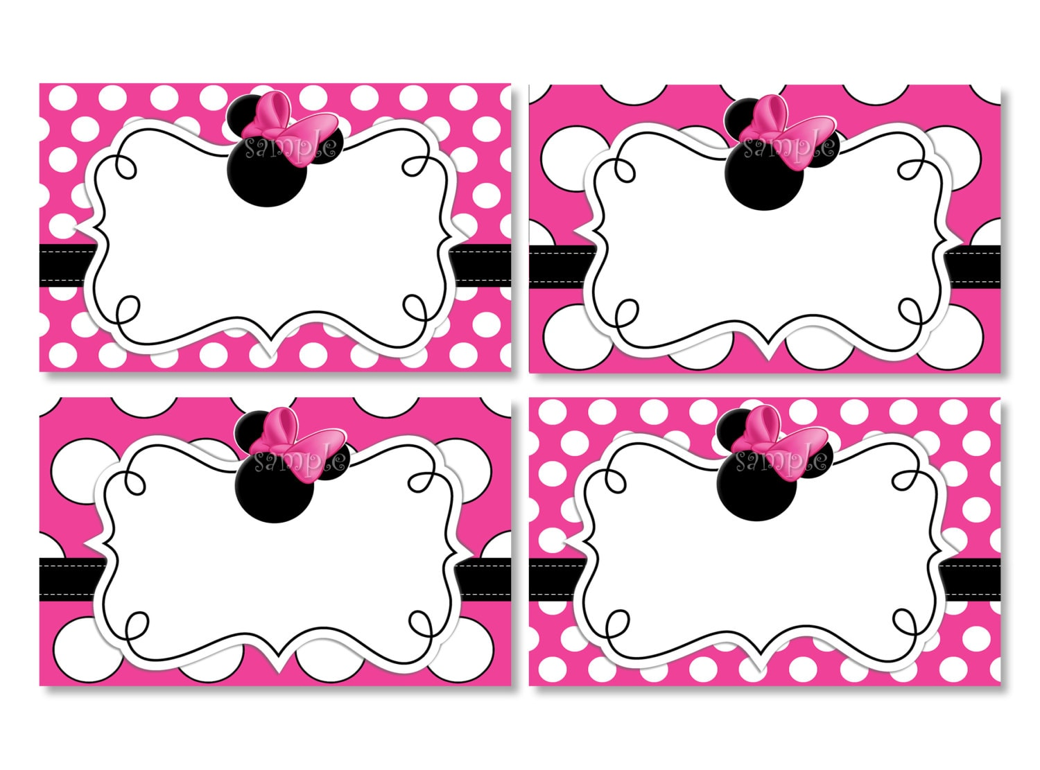 Minnie Mouse Head Invitation Template as good invitation design