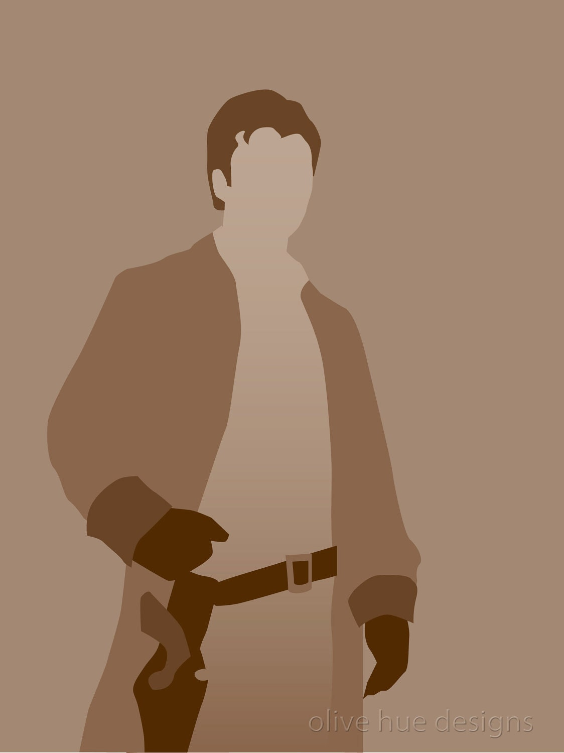 Captain Malcolm Reynolds Firefly 8x10 minimalist poster in brownSerenity Minimalist Poster