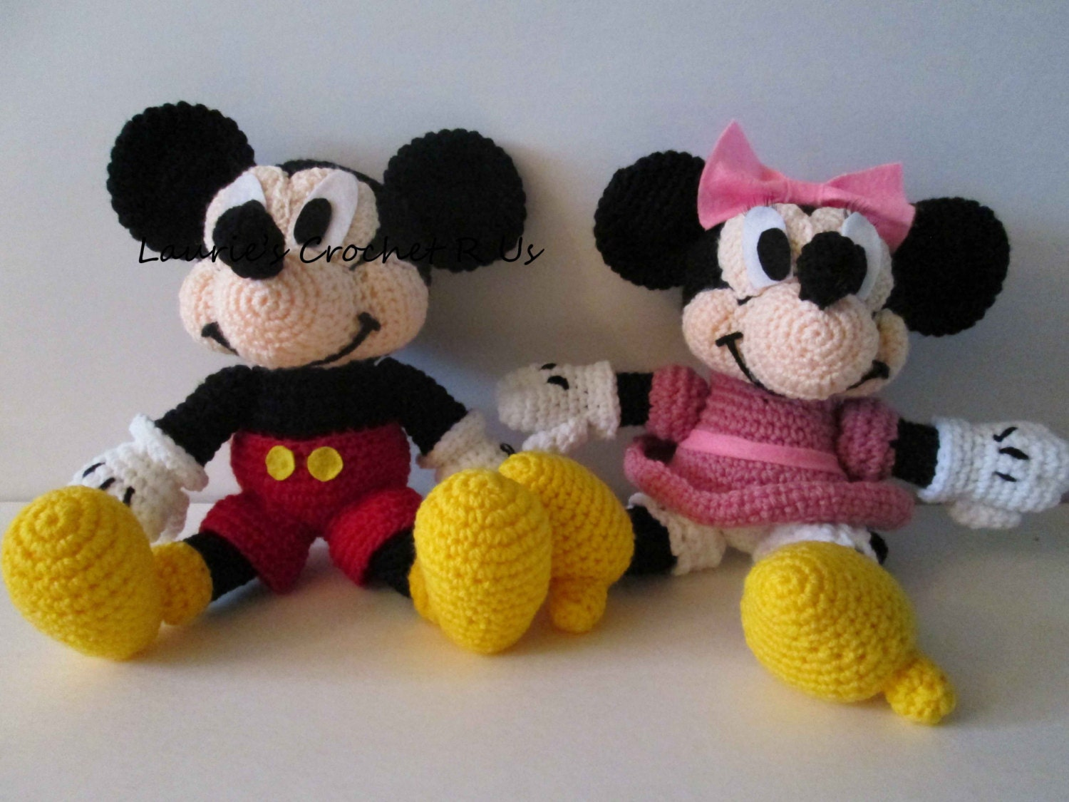 Crochet Minnie Mouse Doll : Quality Handmade Crochet Boy Mouse OR Girl by ...