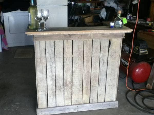 Items similar to Reclaimed Wood Bar rustic furniture artisan created ...