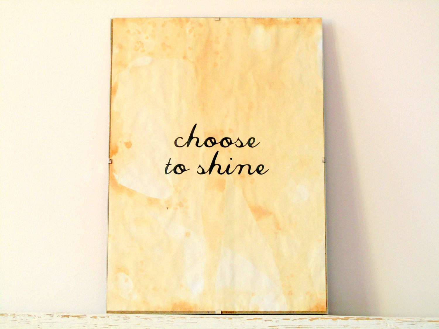 Wall Decor, Poster, Sign - Choose to shine - regularhome