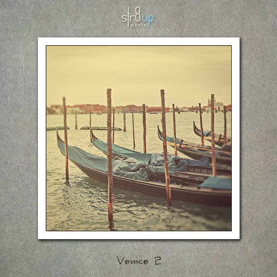 Venice 2 - pastel gondolas 12x12
