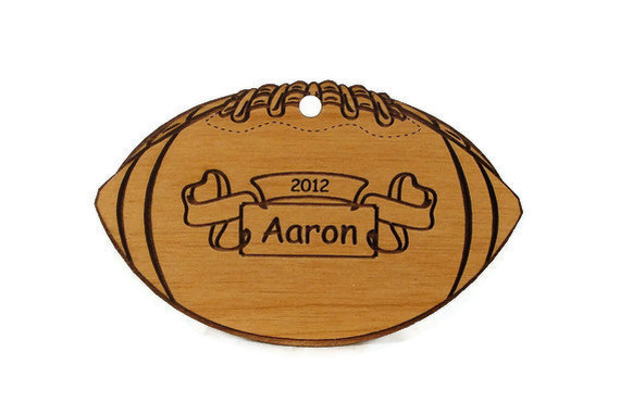 Football  Personalized Wood Ornament - gclasergraphics