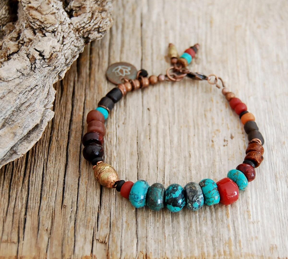 boho bracelet lotus bracelet bracelet by omsaha