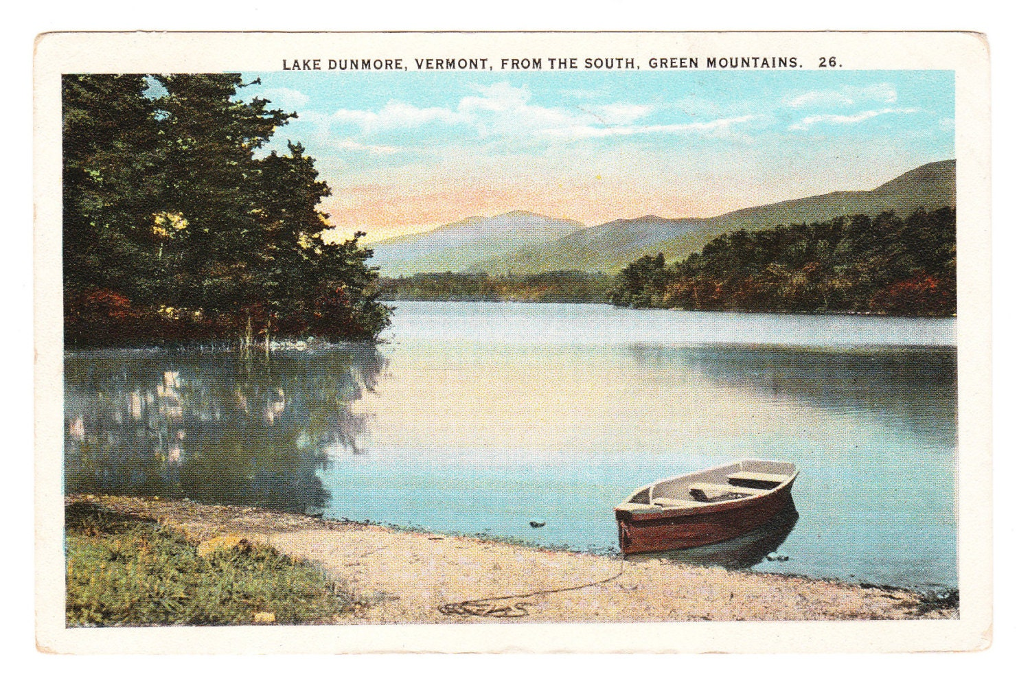 Vintage Vermont Postcard, Lake Dunmore - PicturesFromThePast