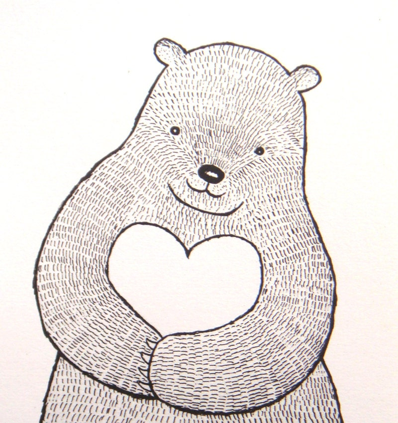 Bear And Heart Drawings Images amp Pictures Becuo