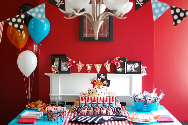 pirate birthday party decorations baby shower decorations banner
