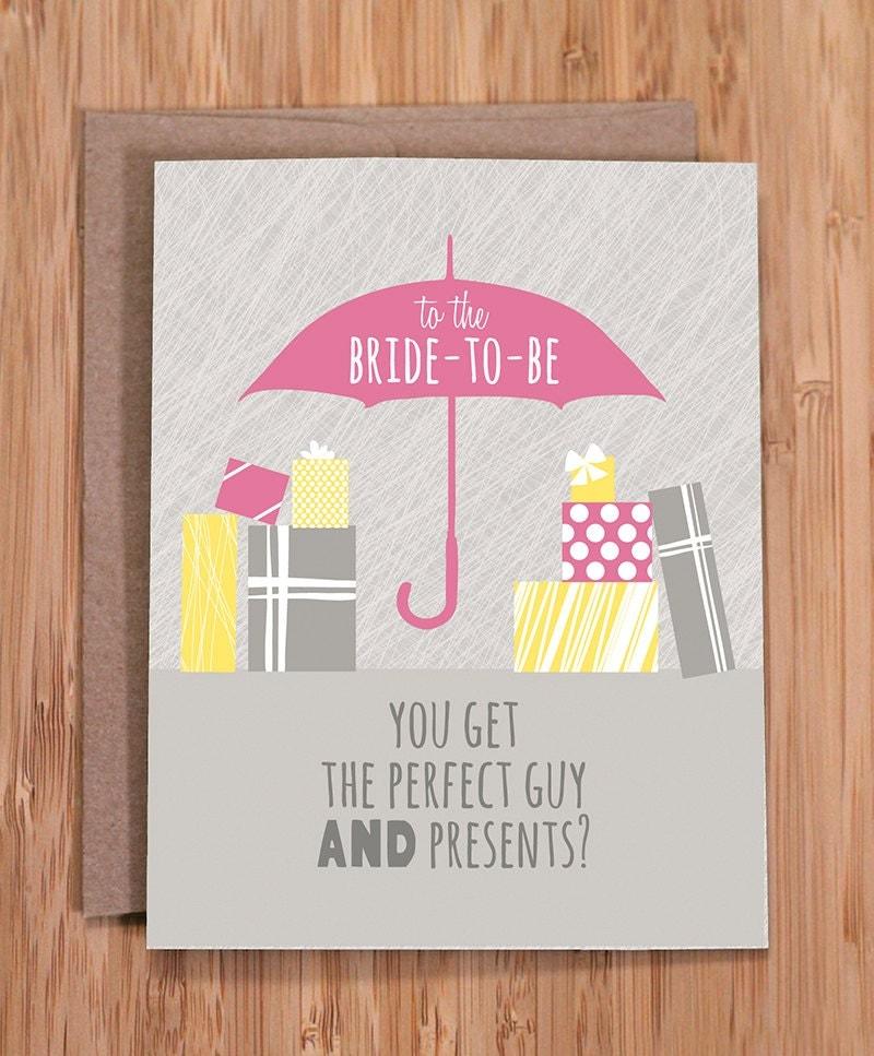 Bridal Shower Card Funny Not Fair By ModernPrintedMatter