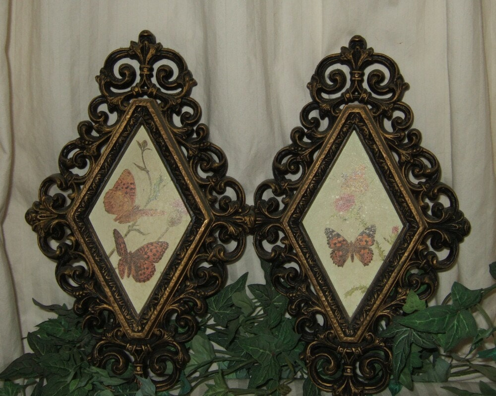 vintage homco home interiors wall plaques by