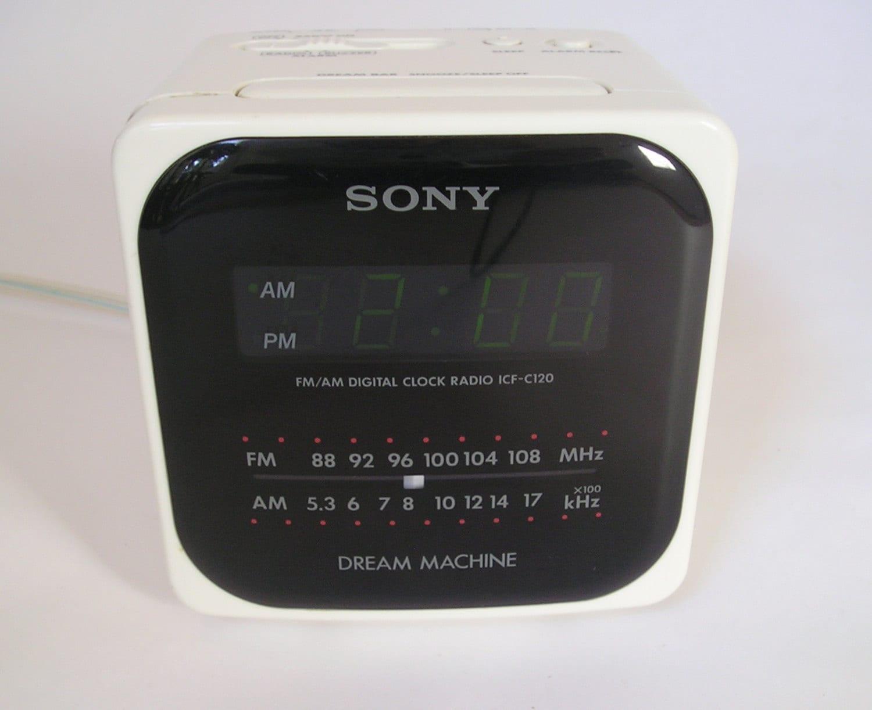 Vintage Sony Dream Machine Cube Clock Radio AM FM by ...