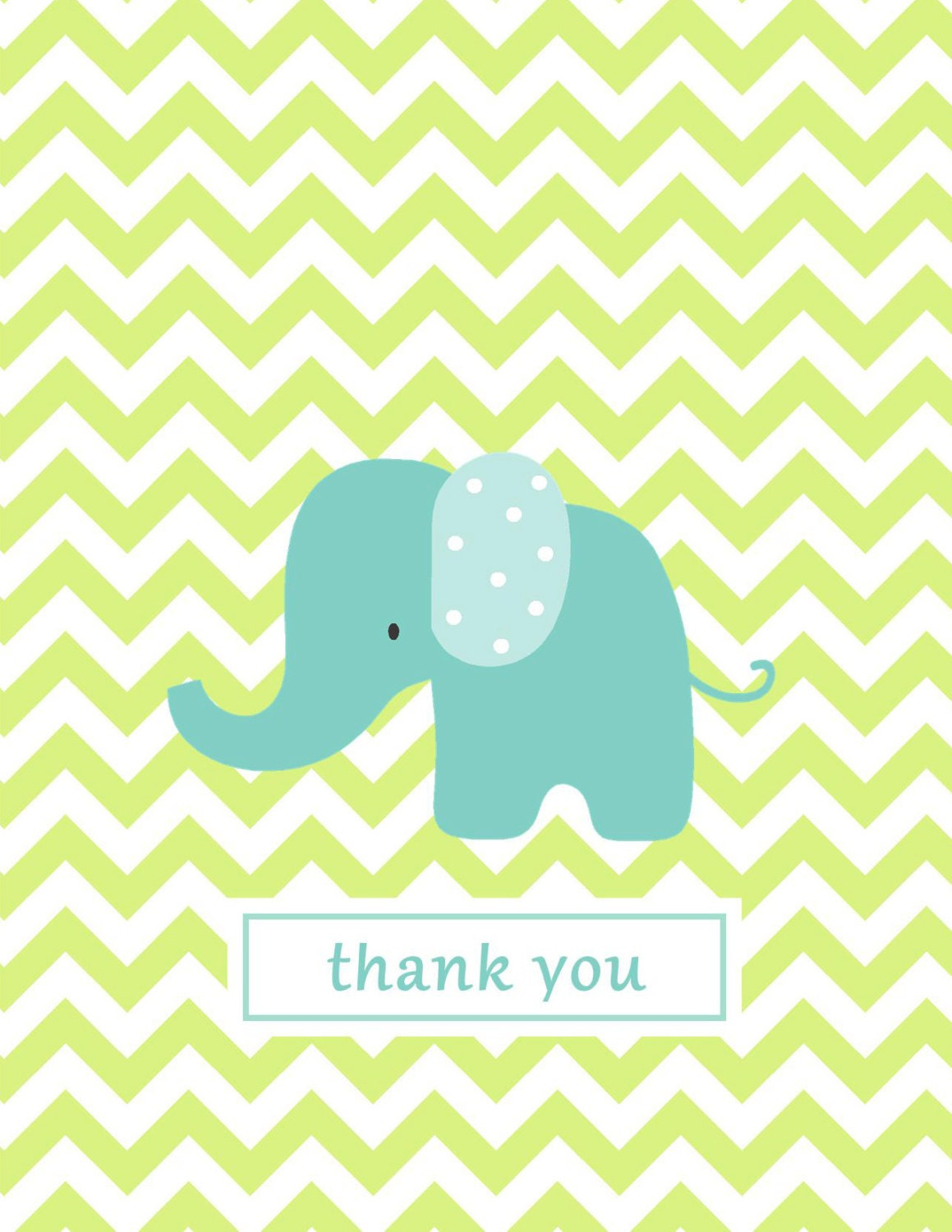 Baby Gift Card Thank You Note : Chevron note card baby thank you notes lime by