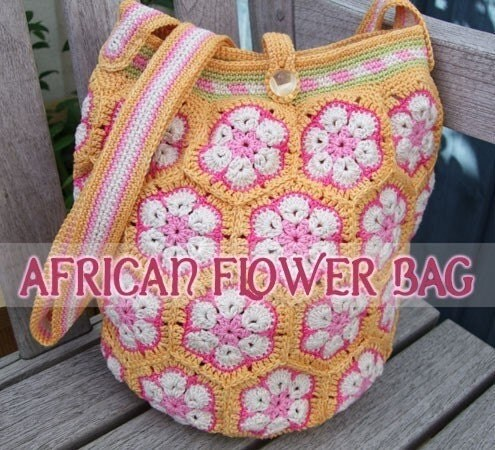 African Flower Crochet Bag Tutorial Pakbit For