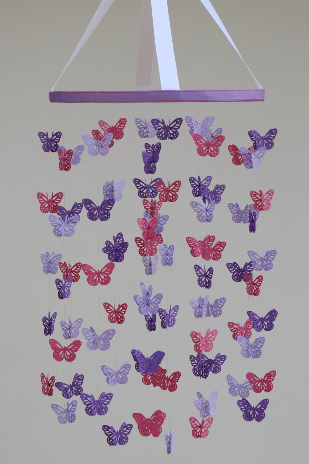 butterfly mobile baby mobile in purple lavender by. Black Bedroom Furniture Sets. Home Design Ideas