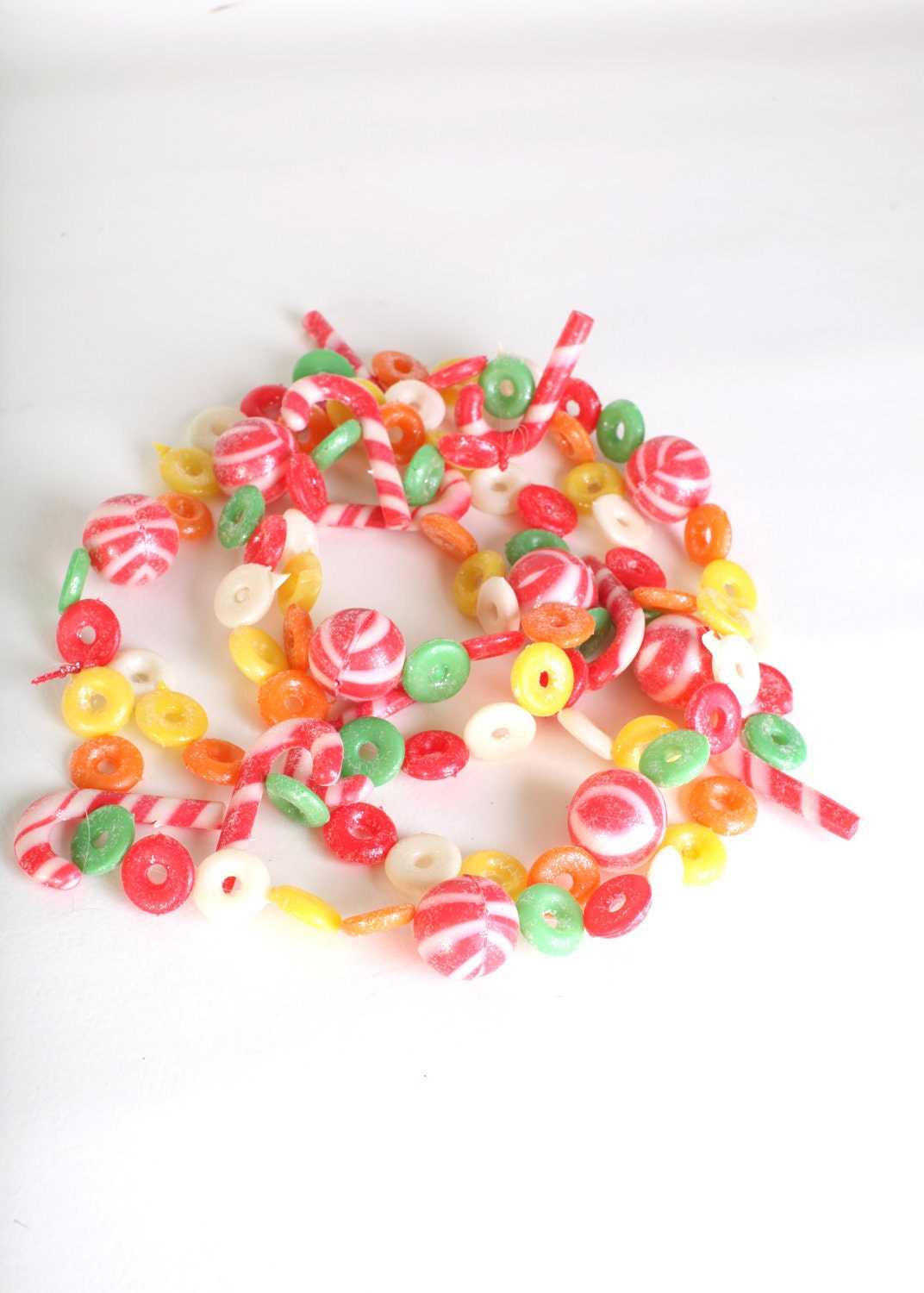 Christmas decor plastic candy garland by thisvintagething on Etsy