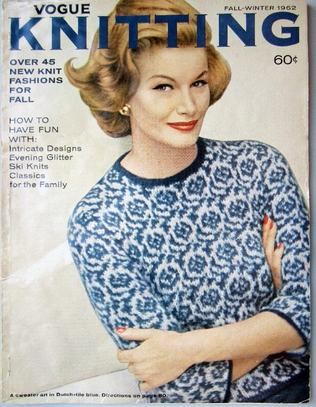 Vintage VOGUE Knitting Magazine tons of patterns by nesstiques