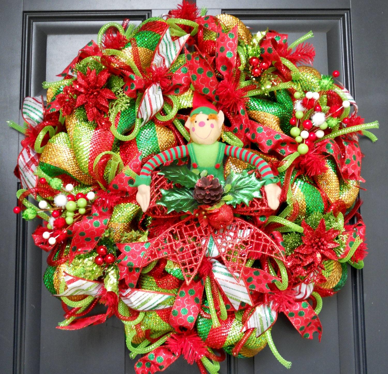 Christmas Deco Mesh Wreath Free Wreath Hanger By