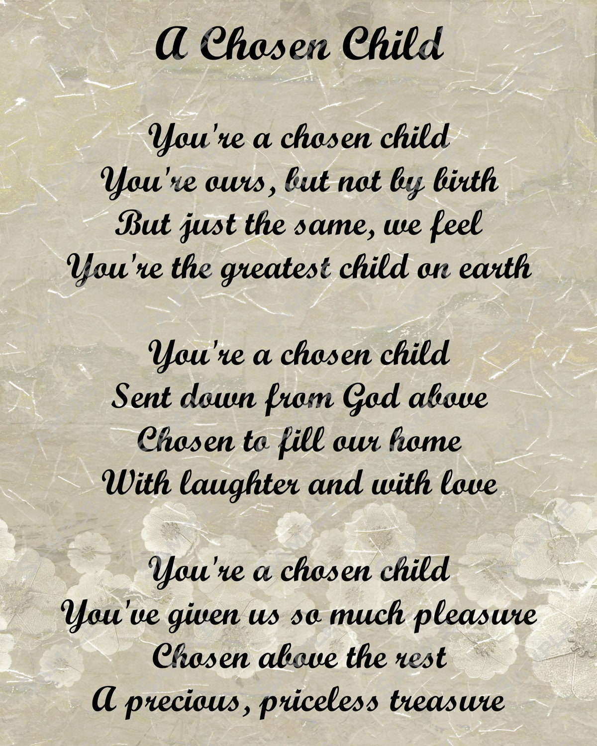 child adoption is this really my new family In almost any adoption, the new parents accept that their good fortune arises   for some, it raised a nightmarish question: what if my child had been taken   really know about what happened on the other side of the world.