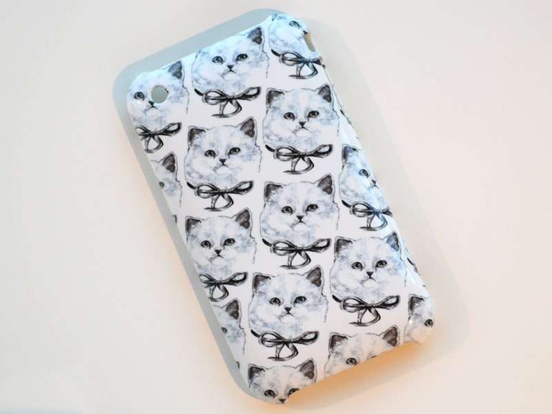 cat iphone case - iphone 3 / 3GS - kitty cats iphone 5 4 4s samsung galaxy s2 s3