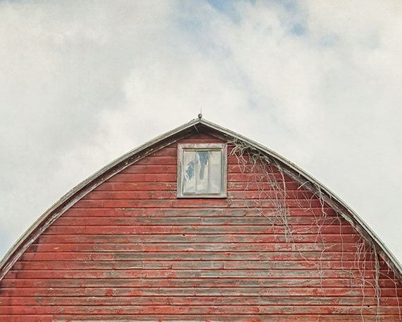 Rustic Photograph, Abandoned Red Barn, Old Window, Rural Decay, Old Barn, Fine Art Photography Print, Farmhouse Decor, Large Sizes Available - SuzanneHarfordPhoto