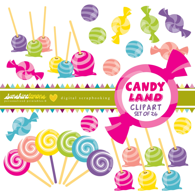 Candy Land Clipart Set Of 26 By SunshineLemons On Etsy