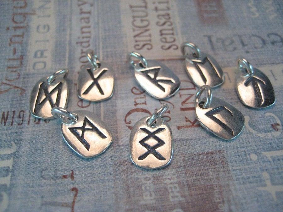 items similar to sterling silver rune charm elder futhark