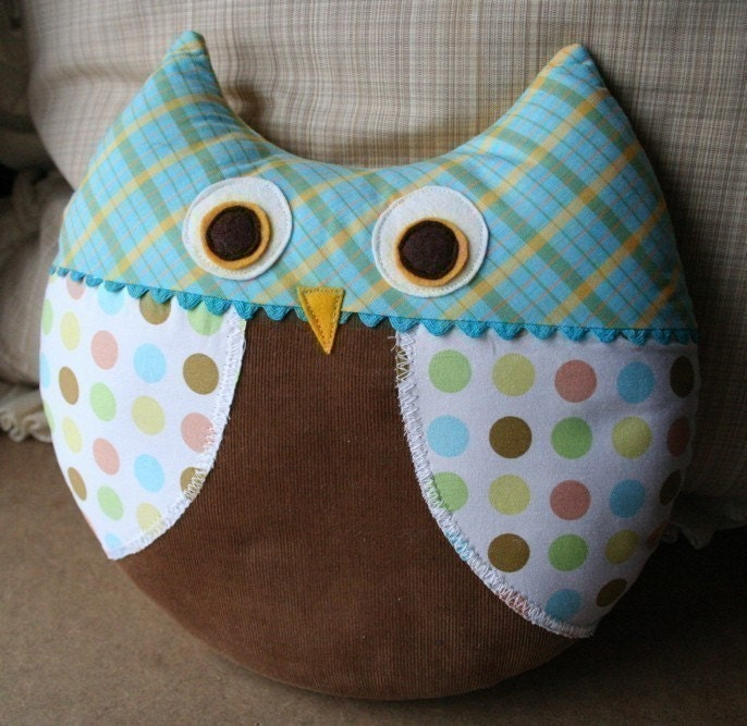 Cute Pillow Sewing : Max the Owl Pillow Plush Sewing Pattern PDF Cute Simple by ginia18