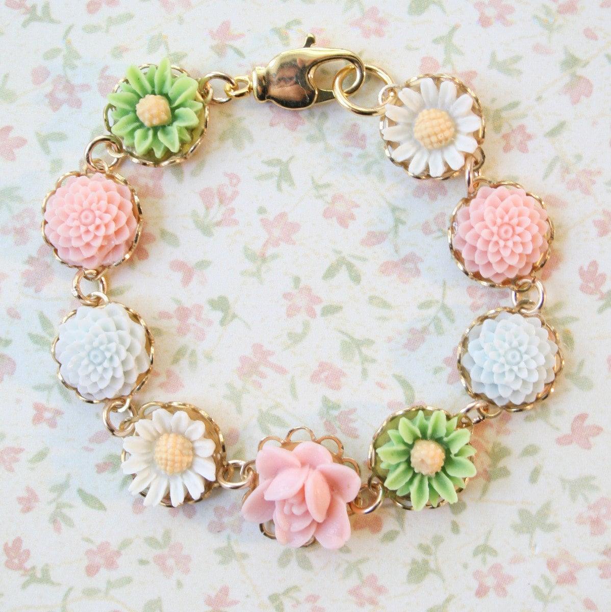 Pastel Floral Bracelet